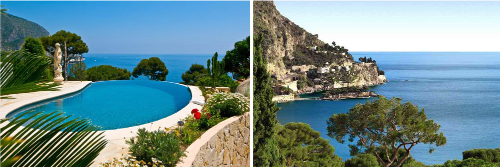 The Villa features an infinity will a stunning 180-degree view of the Mediterranean Sea and the surrounding coastal cliffs