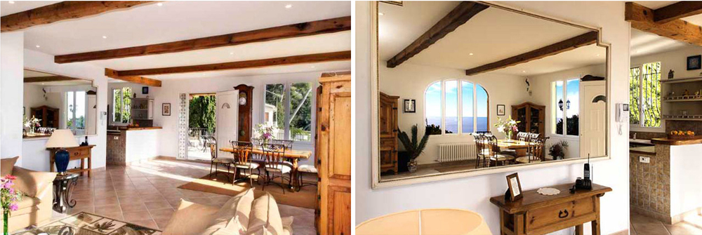 The property's has a traditional Provencal-style interior. It can house up to 7 guests.