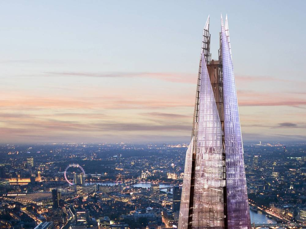At 1000-feet high The Shangri-La at The Shard is Western Europe's tallest hotel