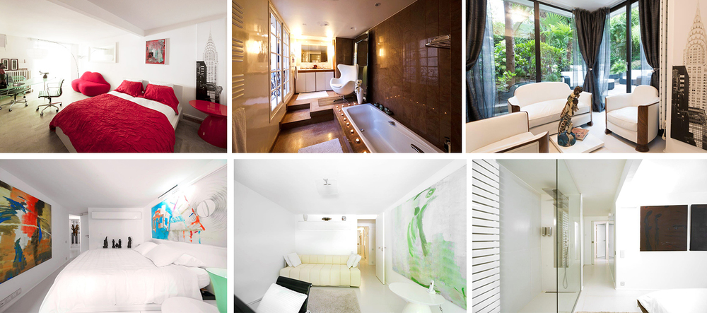 The other bedrooms are all located on the Garden floor, each has its own bathroom and direct access to garden.