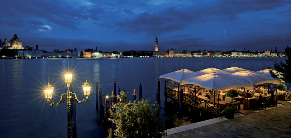 Located on the tip of Guideca Island, the 79 room hotel offers spectacular views of the Lagoon and St Mark's Square.