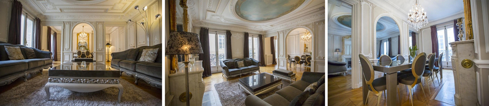 This apartment in the famour Palais du Lourve is plushly furnished and sumptuous living quarters - a perfect Parisian  Pied-à-terre.