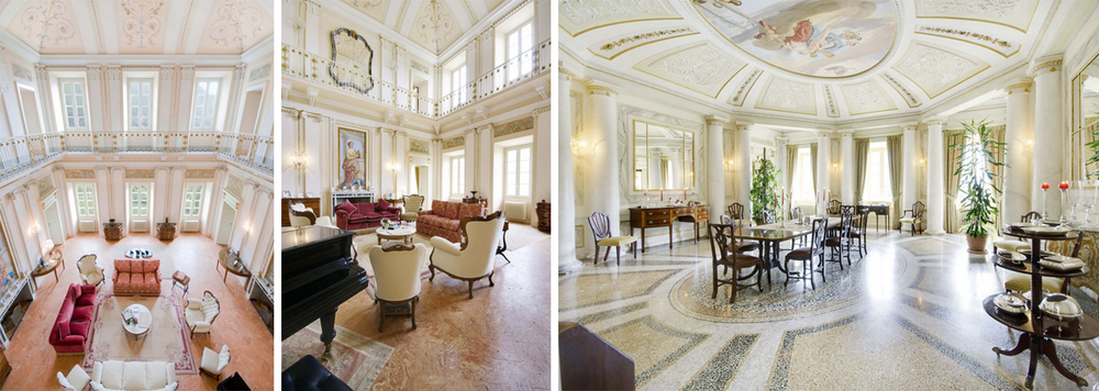 The Living and Dining area is beautifully furnished and restored to it's original grand state.