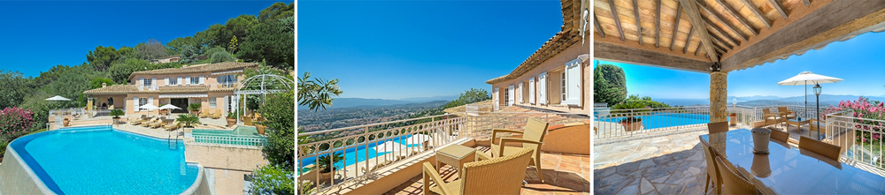 The Provencal-style villa embodies the French Riviera lifestyle. Guests can take full advantage of the massive outdoor terrace, infinity pool and pristine garden.