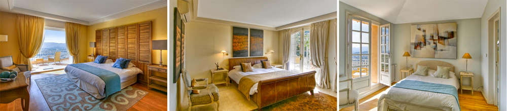 The villa features 5 elegant Provencal-style ensuited bedroom, accommodating up to 10 guests.
