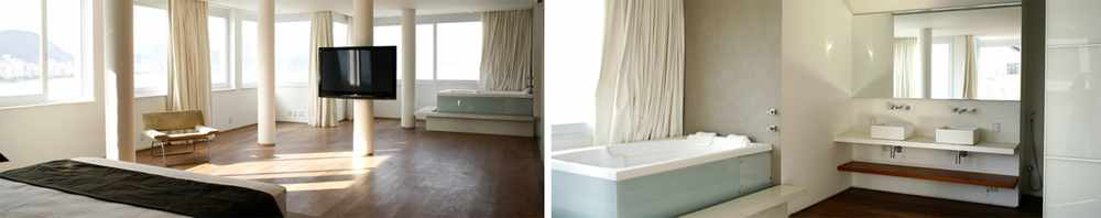 The penthouse has 6 spacious and elegantly designed ensuite bedrooms accommodating up to 12 guests.