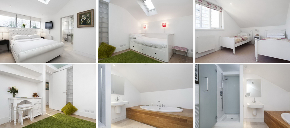 The home features 3 bedrooms and can accommodate up to 5 guests. Ideal for a group of friends or guests with young kids.