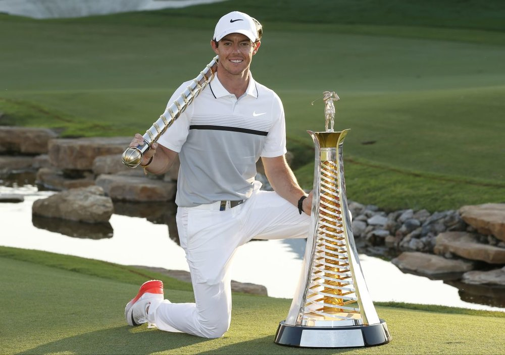 Winner of the 2015 Race to Dubai,  Rory McIlroy